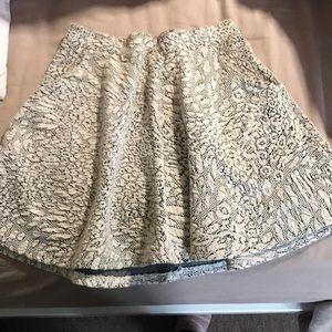 Topshop patterned skater skirt